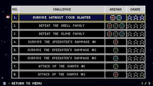 Liste des challenges