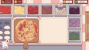 La préparation d'une pizza