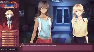 """Nicole se trouve devant un personnage féminin. Le texte dit: """"Il me faut un instant pour reprendre mon souffle"""""""